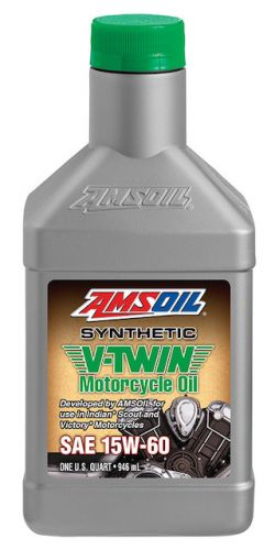 Amsoil Synthetic V-Twin Motorcycle Oil, SAE 15W-60